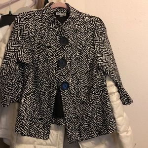 JM Collection Black White Jacket PL